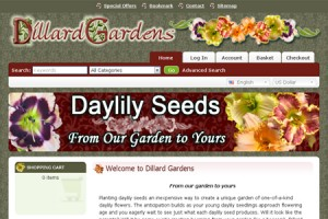 ecommerce website, daylily website, daylily crosses website, seed website
